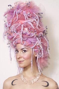 fantasy wig cotton candy fairy fairytale dready wig dreads circus fantasy festival wear burningman wig www.etsy.com/shop/lotuscircle