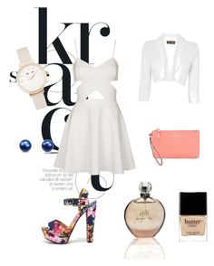 """""""(:"""" by amila677 ❤ liked on Polyvore featuring Topshop, My Delicious, Kate Spade, Olivia Burton, Phase Eight, JLo by Jennifer Lopez and Butter London"""