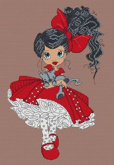 Cross Stitching, Cross Stitch Embroidery, Cross Stitch Patterns, Small Cross Stitch, Cross Stitch Heart, Xmas Crafts, Diy And Crafts, Stitch Doll, 123 Stitch
