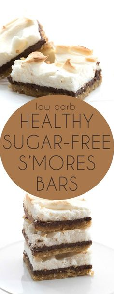 These low carb, sugar-free s'mores bars will be the hit of the summer…