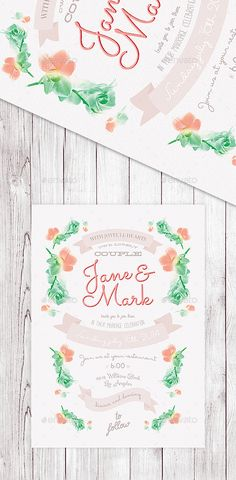 Floral Wedding Invitation II