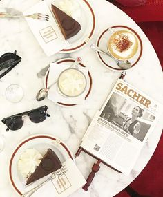 Sachertorte's at the sacher hotel  Vienna (Wein) @alexandermchale_