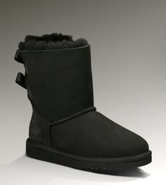 Kids UGG Bailey Bow Boots Black