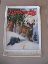 "Vintage ""February 1926"" OUTDOOR LIFE Magazine ... (Deer & Porcupine cover) Outdoor Life Magazine, Hunting Magazines, Life Cover, Sports Art, Western Art, Deer, February, Nursery, Outdoors"