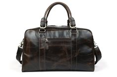 Tiding Men's Vintage Classic Nappa Leather Travel Duffle Weekender Luggage Gym Holdall Shoulder Bag Tote Handbag (coffee): Amazon.co.uk: Luggage