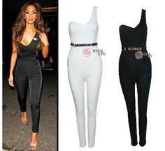 Free shoping NEW ARRIVALS  Slim fashion sexy shoulder Jumpsuits TB 6041 $22,32