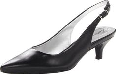 Trotters Womens Slingback Kitten Heeled Pump Black 95 W US ** Check this awesome product by going to the link at the image. (This is an affiliate link) Black Suede Pumps, Leather Pumps, Women's Pumps, Pump Shoes, Kitten Heel Shoes, Pointed Toe Heels, Slingback Sandal, Strap Heels, Amazon