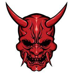 Oni Tattoo, Samurai Tattoo, Mascara Oni, Hannya Maske, Oni Demon, Arte Ninja, Samurai Artwork, Satanic Art, Japanese Tattoo Art
