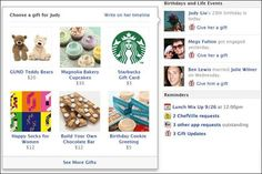 Facebook is gearing up for a push into online retail by running a US trial that allows users to send friends real gifts including Starbucks gift cards, cupcakes and teddy bears.