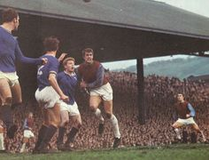 26th February 1969. West Ham striker Geoff Hurst in action against Mansfield Town in the FA Cup 5th Round upset in which the Hammers lost 3-0.