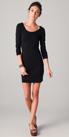 Long Sleeve Mini Dress..would be cute with leggings or tights in winter!