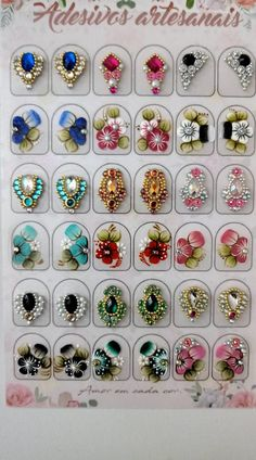 Nails natural art manicures for 2019 Colorful Nail Designs, Nail Art Designs, Gel Manicure At Home, Nail Jewels, Gem Nails, Foto Art, Gorgeous Nails, French Nails, Stiletto Nails