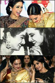 REKHA The Cosmetic Emperoress & SREEDEVI KAPOOR The Last Queen In Bollywood Having A Blast Together!!
