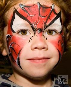 Stunning spiderman facepaint artwork