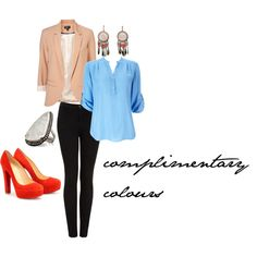 Compilentary colours, created by sydneydee.polyvore.com