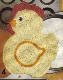 Free crochet pattern for a chicken potholder