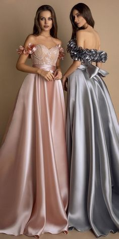 Stunning Satin & Lace Sweetheart Neckline Floor-length A-line Evening Dresses With Handmade Flower P2255 Best Evening Dresses, A Line Evening Dress, Evening Gowns, Blush Prom Dress, Bridesmaid Dresses, Prom Dresses, Formal Dresses, Wedding Dresses, Nice Dresses