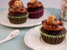 Cookie Cupcakes con frosting de Nutella