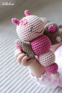 amigurumi butterfly crochet patterns free   You are here: Home / Amigurumi patterns / Bug rattles – pattern by alexis.g.cummings