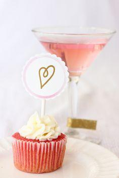 Festa Dia dos Namorados Rosa & Gold {Idéias, Suprimentos, Decor}