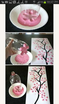 Arts and crafts for the kids or big kids at heart!!  This is such a great idea and the finished product is phenomenal.: