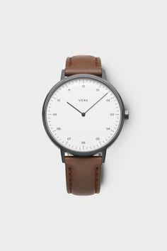 Gunmetal / Tan Watch by VERK - Scandinavian timekeeping, designed for perfection | Verkstore.com @Verkwatches