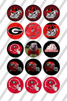 4734a01bb8e Georgia Bulldogs digital collage sheet size 4x6 for bottle caps 1 inch -  INSTANT DOWNLOAD Georgia