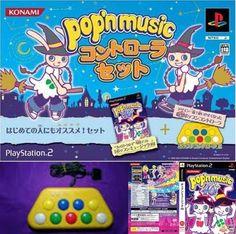 Used PS2 Pop'n Music 10 soft controller set NTSC-J Japan Import Game 561