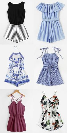 SO many cute rompers for summer at this site! - SO many cute rompers for summer at this site! New Outfits, Fall Outfits, Summer Outfits, Casual Outfits, Fashion Outfits, Mode Rockabilly, Look Girl, Teen Fashion, Womens Fashion