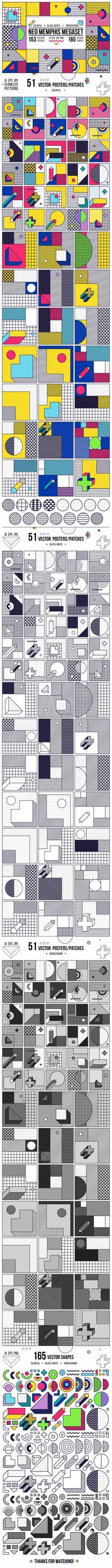 다음 @Behance 프로젝트 확인: \u201c318 posters/elements MEMPHIS set!\u201d https://www.behance.net/gallery/49054369/318-posterselements-MEMPHIS-set