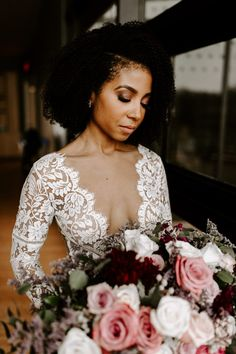 This Trinity River Audobon Center Wedding is Romantic, Glam, and Edgy All in One Romantic Curls, Romantic Weddings, Ethereal Wedding, Elegant Wedding, Boho Wedding, Bridal Hair And Makeup, Bride Makeup, Bridal Looks, Bridal Style