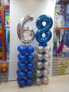 Shop for the ultimate birthday or anniversary balloons on balloonparty.ie today such as these balloon towers with supershapes. Balloon Tower, Balloon Display, Bubble Balloons, Number Balloons, Balloon Columns, Baby Shower Balloons, Balloon Arch, Baloon Garland, Packaging