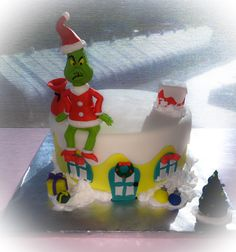How the grinch stole Christmas red velvet cake! Made by Irma Solis.