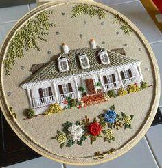 2,418 отметок «Нравится», 25 комментариев — ⠀⠀⠀⠀Лучшее из мира handmade (@best_handmade_world) в Instagram: «Продолжение прекрасной вышивки от @the_monsters_lounge #house #houseportrait #gift #alabama…»