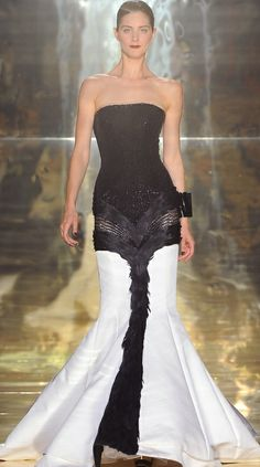Georges Chakra...Gorgeous, imagine this in your wedding colors. Adjust the neckline to fit your style. Work with your seamstress to achieve this look.