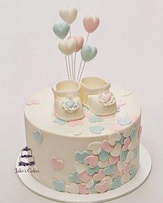 Mais uma sugestão de bolo para #chadebebe. Via Pinterest #ideiasdebolosefestas #ideiasdebolos #bolochadebebe #babyshower