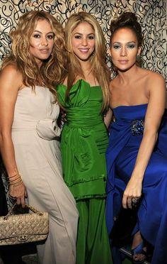 Jennifer Lopez, Shakira, Paulina Rubio gorgeous spanish speaking women... Latina Power
