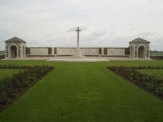 VC Corner Australian Cemetery & Memorial, Fromelles. It contains the graves of 410 Australian soldiers killed during the Battle of Fromelles, July 1916 & whose bodies were found on the battlefield. As none of the bodies could be identified, no individual graves were marked, a memorial recorded all 1185 soldiers killed in the engagement & whose graves are not known. Many originally listed on the memorial were subsequently identified & re-interred at Fromelles (Pheasant Wood) Cemetery.