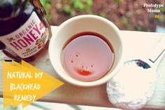 Super Easy 2 Ingredient DIY Blackhead Remedy. All you need is a little honey and baking soda and you're ready to rock it out!