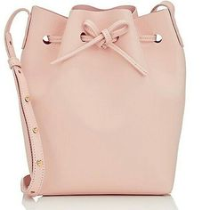 "014a309e38301 ... on Instagram: ""MANSUR GAVRIEL Leather Mini Bucket Bag @mansurgavriel  @barneysny . Mansur Gavriel's mini bucket bag is crafted in Italy of light  pink…"""