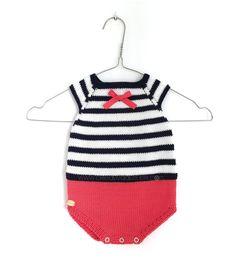 Ranita de punto Marinera de bebé DIY - Tutorial y patrón