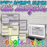 This is a COMPLETE set of my Daily Agenda Slides-This set can be used with ANY subject! You can use these in class to display the daily class agenda! These Daily Agenda Slides can be used in SO many d Social Studies Resources, Teacher Resources, First Day Of School, Back To School, Class Bulletin Boards, Daily Agenda, Classroom Posters, Google Classroom, Study History