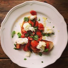 Keep it simple tonight with Roasted Tomatoes, Basil and Mozzarella