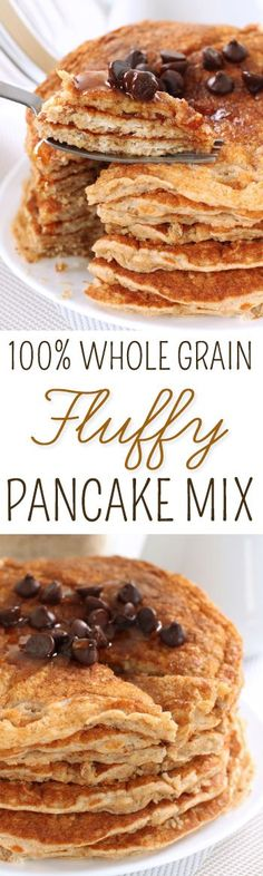 This pancake mix is 100% whole grain but kids won't be able to tell from the taste or amazing texture!