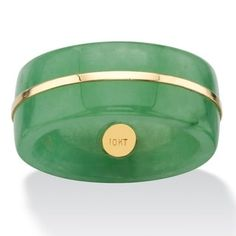 Angelina D'Andrea - 10k Gold Green Jade and Peridot Ring 8bAWzvjVxT
