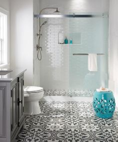 If you have a small bathroom in your home, don't be confuse to change to make it look larger. Not only small bathroom, but also the largest bathrooms have their problems and design flaws. Bathroom Tile Designs, Bathroom Renos, Bathroom Flooring, Modern Bathroom, Master Bathroom, Bathroom Ideas, Serene Bathroom, Bathroom Small, Peach Bathroom
