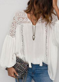 Latest fashion trends in women's Blouses. Shop online for fashionable ladies' Bl. - Latest fashion trends in women's Blouses. Shop online for fashionable ladies' Blouses at Floryd - Cute Fashion, Fashion Pants, Boho Fashion, High Fashion, Fashion Outfits, Womens Fashion, Fashion Design, Inspiration Mode, Hippie Style