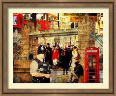 An example of what this fine art photo print looks like when frames.Iconic London Photo Art,  Wall Art,  Home Décor by PhotoArtTreasures.
