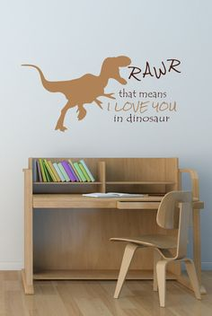 Dinosaur Decal  Wall decals  Dinosaur Decal  by DavisVinylDesigns, $24.00