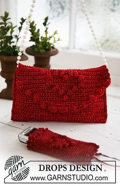 Crochet bag and mobile phone pocket: free pattern